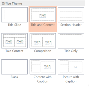 PowerPoint Layout - Title And Content