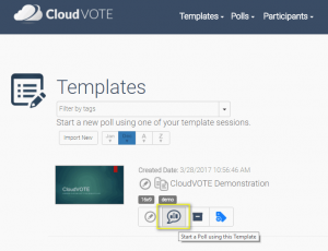 Start a new session from Template