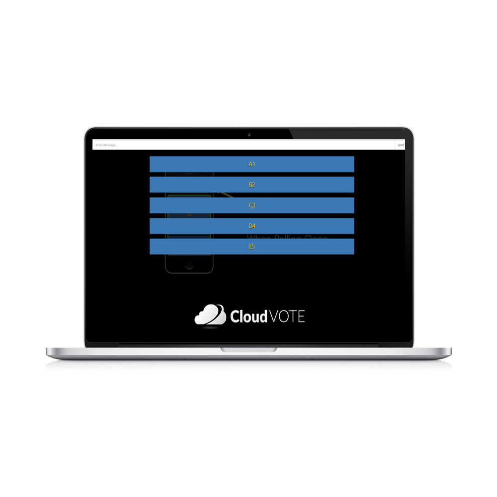CloudVote Polling Laptop