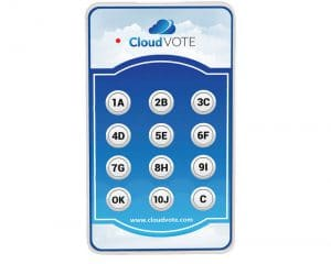 CloudVOTE Student Response Clicker Front